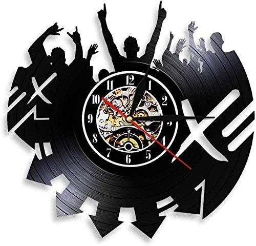 Reloj de pared de vinilo, reloj de pared de vinilo, reloj de pared, reloj de pared, moderno, decoración del hogar, estilo retro, decoración de sala de estar, regalo hecho a mano, 30 cm de diámetro