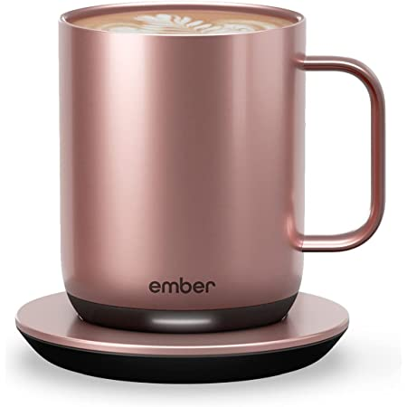 New Ember Temperature Control Smart Mug 2, 10 oz, Rose Gold, 1.5-hr Battery Life - App Controlled Heated Coffee Mug