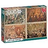 Jumbo Spiele- Jumbo Puzzle Unterhaltung im Wohnz 1000 | 18856, Multicolor