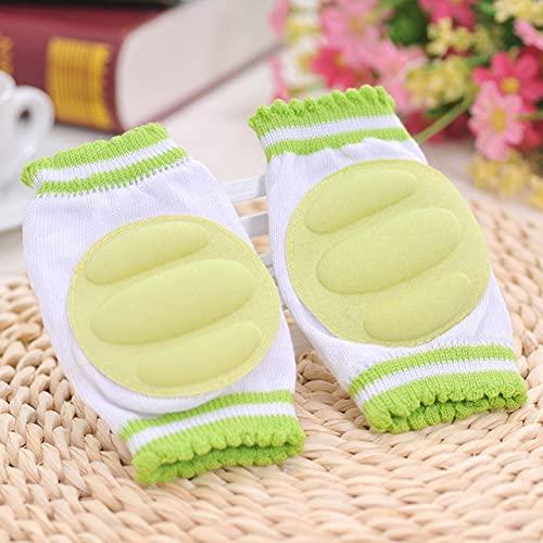 DFGER 1pair bebé cunera Acogedor algodón Esponja Transpirable niños Rodillas Almohadillas Aprender a Caminar la Mejor protección Cowling Leggings Pad (Color : Green)