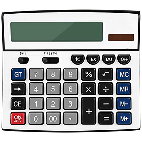 Yusuo 12-digit Oversized Display Large Button Solar Electronic Desktop Calculator