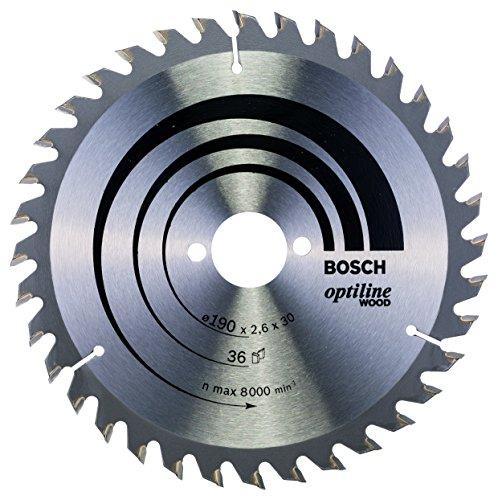 Bosch Professional Kreissägeblatt Optiline Wood (für Holz, 190 x 30 x 2,6 mm, 36 Zähne, Zubehör Kreissäge)