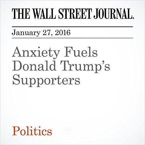 Anxiety Fuels Donald Trump's Supporters audiobook cover art