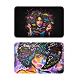 Africa American Black Pretty Girl 2 PC Magnets for Fridge Locker Magnet Refrigerator Magnets for Office and Kitchen