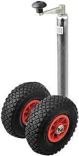 ProPlus Dubbele wieltje met dubbele steunwiel voor aanhangwagen, bugrade, dissel wiel