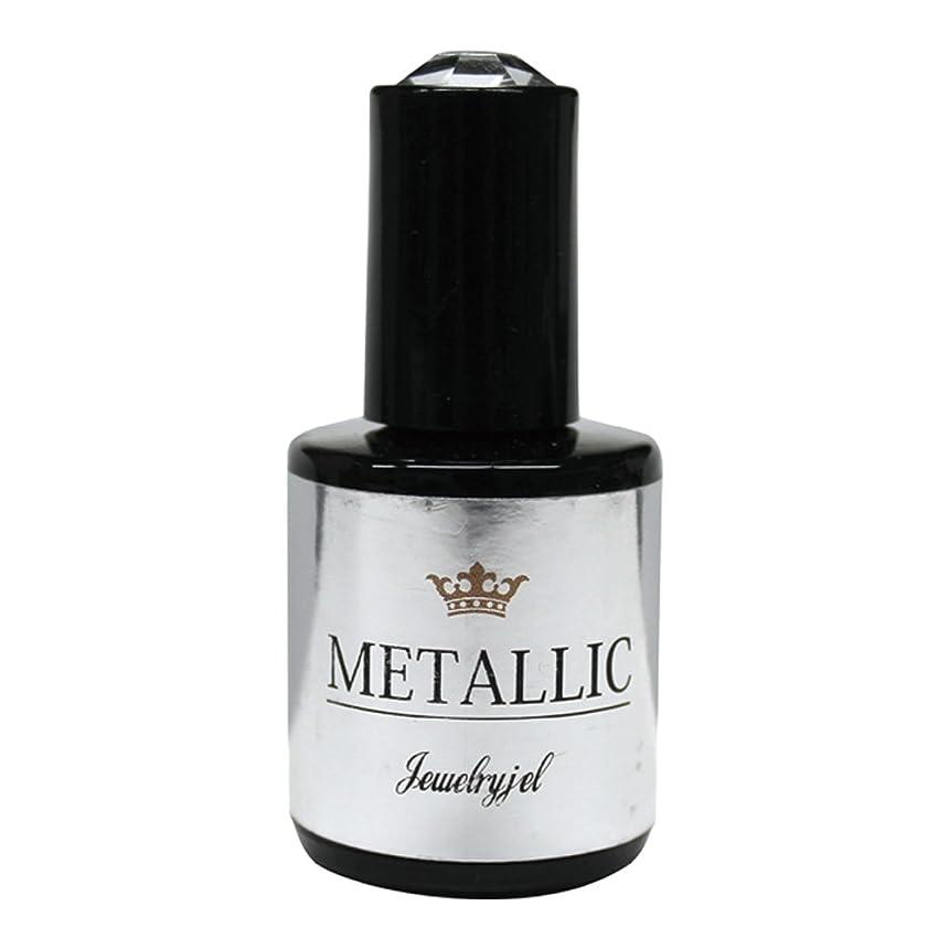 つぼみリブ心理的にジュエリージェル ジェルネイル メタリックカラージェル MT009 5ml   UV/LED対応 カラージェル ソークオフジェル