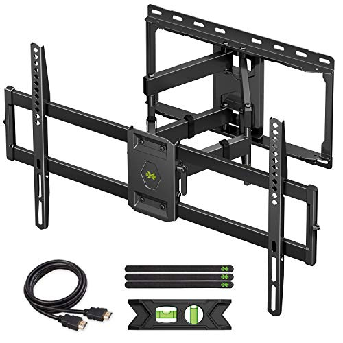 "USX MOUNT Full Motion TV Wall Mount for Most 47-84 inch Flat Screen/LED/4K TVs, TV Mount Bracket Dual Swivel Articulating Tilt 6 Arms, Max VESA 600x400mm, Holds up to 132lbs, Up to 16"" Wood Stud"