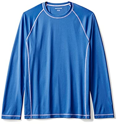 Amazon Essentials Men's Long-Sleeve Loose-Fit Quick-Dry UPF 50 Swim Tee, Royal Blue, Medium