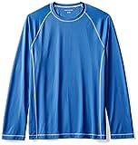 Amazon Essentials Men's Long-Sleeve Loose-Fit Quick-Dry UPF 50 Swim Tee, Royal Blue, Large