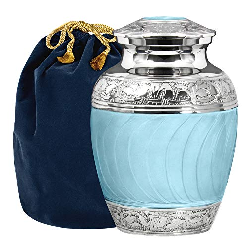 DXQH Miniature Urns Forever Remembered Classic And Beautiful Butterfly Blue Adult Cremation Urn For Human Ashes An Elegant Small Urn