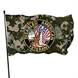 United States DAV Disabled American Veterans Outdoor Flag Home Garden Flag Banner Breeze Flag USA Flag Decorative Flag 3x5 Ft Flag