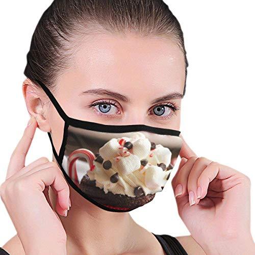 691 Delicious Cupcakes Pattern Design Halbmaske Mundmaske Gesichtsmasken Anti-Staub-Gesichts- und Nasenabdeckung Coole weiche winddichte Ski-Mundmaske