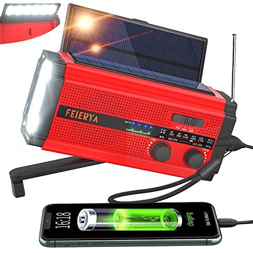 Emergency Radio, Weather Radio, 5000mAh Hand Crank Radio, Solar Radio,...