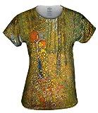 Yizzam- Gustav Klimt -Jesus Garden (1912) -Tshirt- Womens Shirt-Large