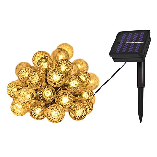 KALUN Explosive LED Solar Outdoor Waterproof Lights Christmas Light Strings Balcony Garden Garden Decorative Lights (Color : Star Colorful, Size : Solar 32m Light)