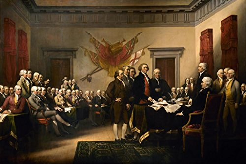 The Declaration of Independence John Trumbull Cool Wall Decor Art Print Poster 36x24