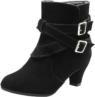MisaKinsa Women Vintage Kitten Heels Dress Boots