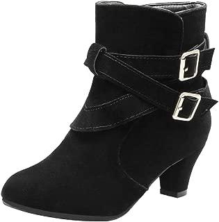 RAZAMAZAWomen Vintage Block Heels Dress Boots