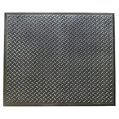 "Rubber-Cal 03_146_Web_CE""FootRest"" Interlocking AntiFatigue Floor Mat, Center Tile, 1/2"" x 28"" x 31"""