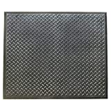 Rubber-Cal 03_146_Web_FI'FootRest' AntiFatigue Comfort Mat Finished Tile Mat, 28' x 31', Black