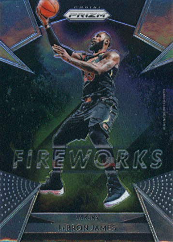 2018-19 Prizm Fireworks Basketball #19 LeBron James Los Angeles Lakers Official NBA Trading Card From Panini