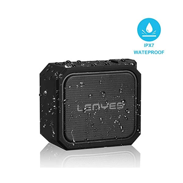 Portable Wireless Speaker Waterproof IPX7, Bluetooth Speakers Support Micro TF Card with Bluetooth4.2+EDR, 20 Hours Playtime, 5W Bass for Camping, Outdoor,Beach, Sports, Pool Party, Shower