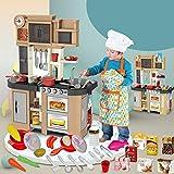 UFLIZOGH Juego de cocina infantil Plástico con 58 accesorios,...