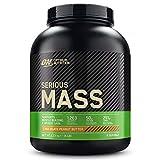Optimum Nutrition Serious Mass, Mass Gainer avec Whey, Proteines Musculation Prise de Masse avec Vitamines et Creatine, Chocolat Beurre de Cacahuète, 8 Portions, 2.73kg, l'Emballage Peut Varier