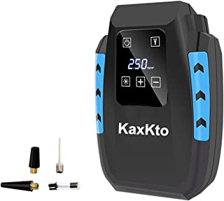 Kaxkto Portable Air Compressor Pump, Auto Tire Inflator and Mini Bike Pump with Digital Touch Screen Display with Long Cable For Cars, Basketballs, Bikes, Motorcycle, Other Inflatables