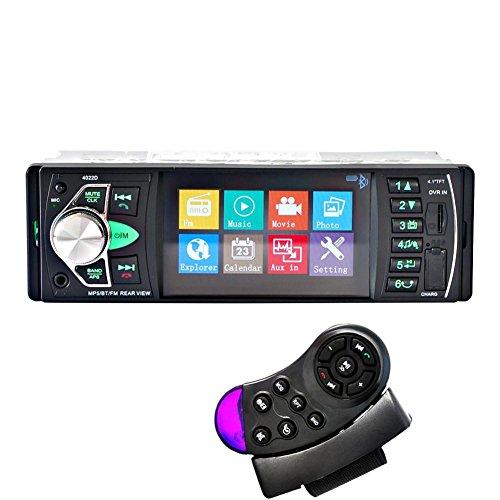 MTTLS Autoradio4.1-pollici HD dello schermo e HD stereo Bluetooth Audio Receiver Ricevitore USB e AUX auto MP5 SD Card Slot 12V/24V-4022D