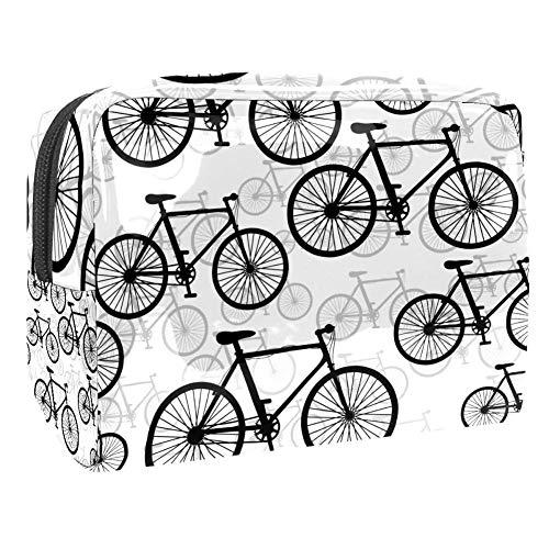 TIZORAX Retro Bikes Patroon Cosmetische Tassen PVC Make-up Tas Reizen Toiletten Handige Pouch Organizer voor Vrouwen