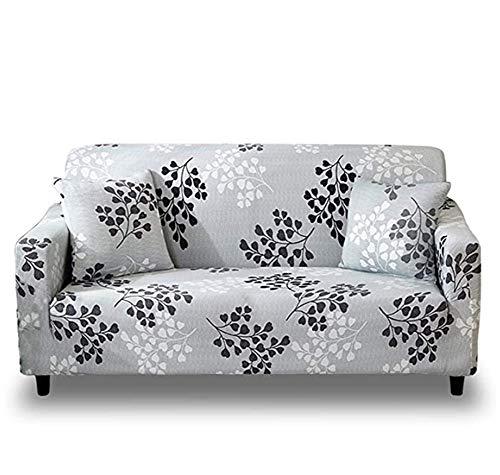 Fundas para sofá de Tela elástica para 1,2,4 plazas, Protector de Muebles Floral Retro nórdico, extraíble, Lavable, Antideslizante, Suave con Algunas Tiras de poliestireno, Azul, Asiento DOB