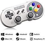 nes advantage controller - 8Bitdo SF30 Pro Wireless Bluetooth Controller with Joysticks Rumble Vibration USB-C Cable Gamepad for Mac PC Android Nintendo Switch Windows macOS Steam With Carrying Case