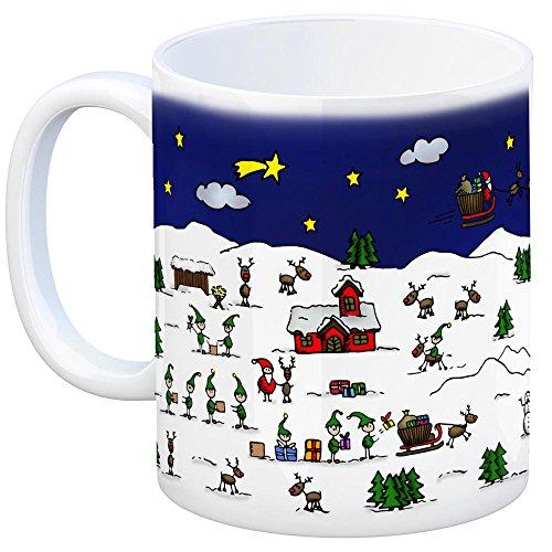 Bergen (Kreis Celle) Weihnachten Kaffeebecher mit winterlichen Weihnachtsgrüßen – Tasse, Weihnachtsmarkt, Weihnachten, Rentier, Geschenkidee, Geschenk - 2