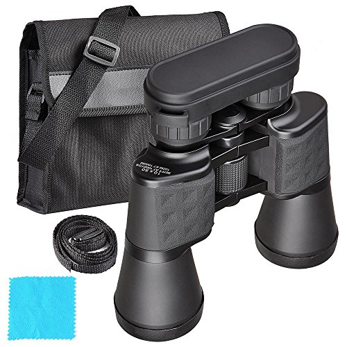 AW HD Waterproof 10-22x50 Zoom Binoculars BAK-7 Porro Prism Wide Angle Compact Telescope Day Vision Black