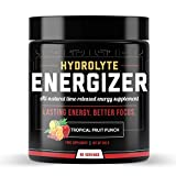 Hydrolyte Energizer Electrolyte Powder Hydration Supplement | Carb, Calorie & Sugar-Free 50 Servings Fruit Punch Electrolytes | Enhanced Performance, Energy Booster, Sharp Focus | Keto-Friendly