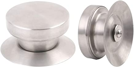 uxcell 2pcs Stainless Steel Lid Knobs Replacement Heat Resistance for Kitchenware Cookware Cover Silver Tone Home Kitchen