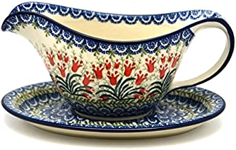 polish pottery gravy boat