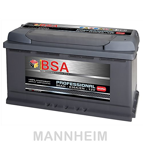 BSA Autobatterie 90Ah 12V 830A/EN ersetzt 80Ah 85Ah Extreme Startkraft