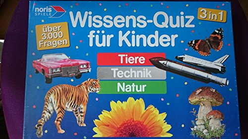 noris Wissens-Quiz für Kinder 3in1 Tiere-Technik-Natur