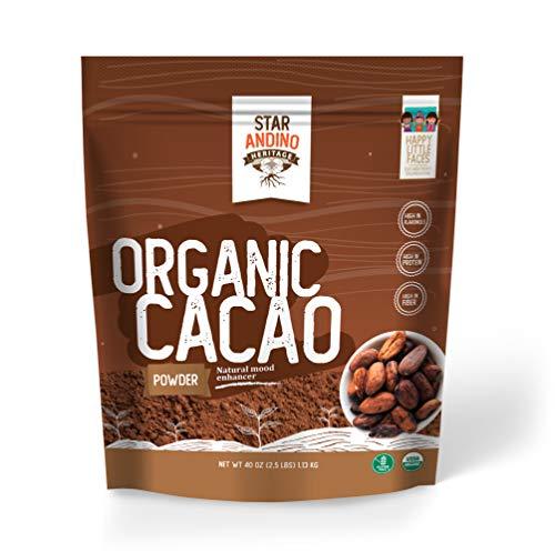 Star Andino Heritage Organic Cacao Powder, All-Natural, Organic Chocolate, 40 Ounce
