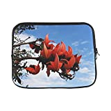 Design Custom Butea Monosperma Palash Flame of The Forest India Sleeve Soft Laptop Case Bag Pouch Skin for MacBook Air 11'(2 Sides)