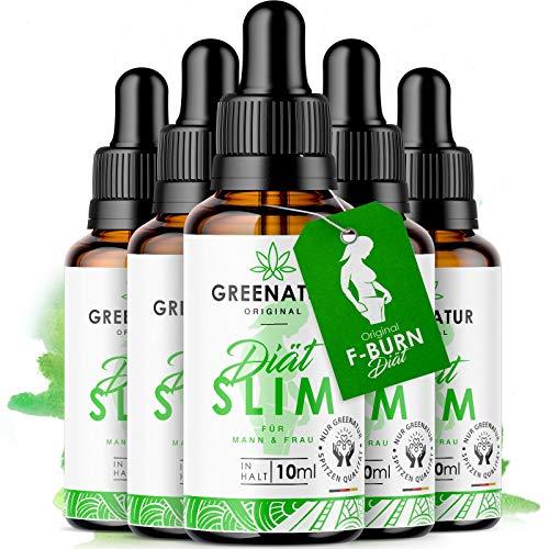 *NEU* GreeNature DietSlim Tropfen - 100% natürliche Inhaltsstoffe | schnell & einfach zur Einnahme | ohne Koffein | für Männer und Frauen (5 Stück)