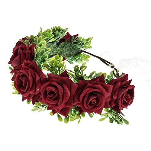 Shiwaki Tocado de Corona Hecho a Mano Cabeza de Flor Diadema de...