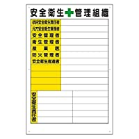 317-41 安全衛生管理組織表 紙 (A2サイズ)