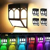 Lámparas Solares, Purplecrystal Luces Solares a Prueba de Agua con 2 Modos...
