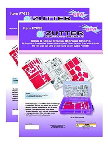 Zutter–Spellbinder Cling & Clear sello Almacenamiento de recambios–dos paquetes de 3piezas