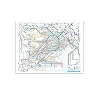 鉄道路線図 レジャーシート 首都圏 日本語 RLSJ