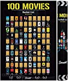 Scrachit 100 Movies Scratch Off Poster 2021- Made By Real Movie Buffs - Easy To Scratch(16.5' x 23.4')