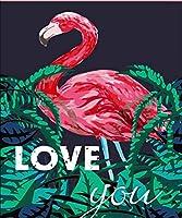 DIY数字油絵 塗り絵キット パズル油絵 鳥や植物 デジタル油絵 手塗り 数字キットによる絵画 絵かき インテリア 壁飾り ホームデコレーション 40x50cm(額縁なし)